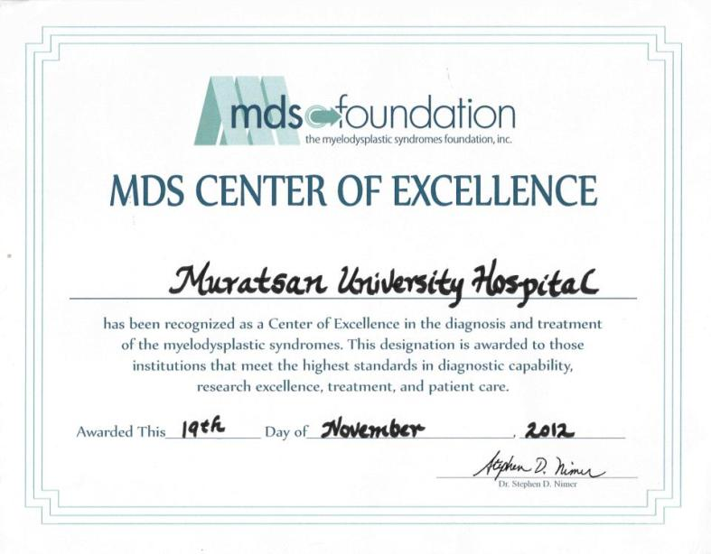 MDS Center of Excellence