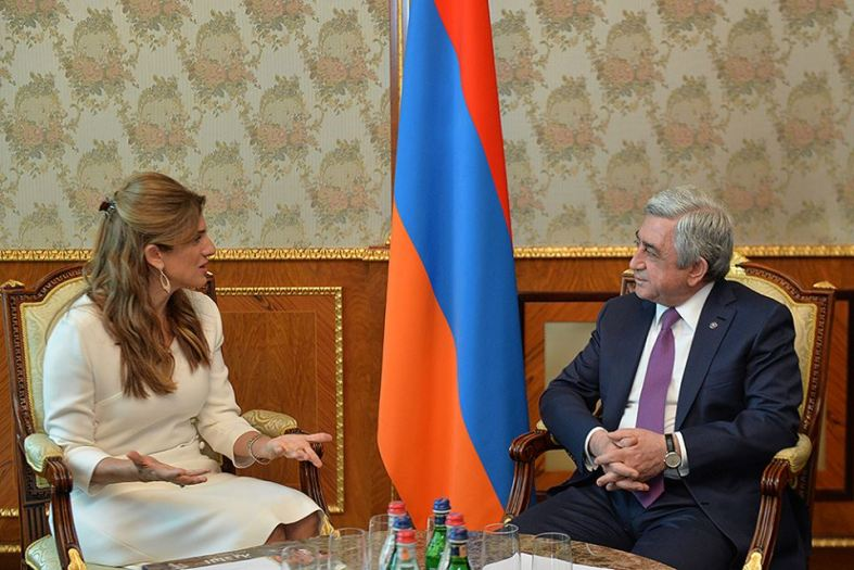 President Serzh Sargsyan and Princess Dina Mired